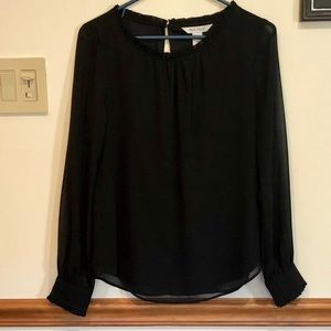 White House Black Market Sheer Blouse
